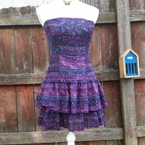 Moda International sleeveless patterned dress